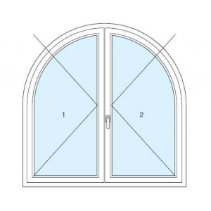 disegno arched and special shape windows  in PVC