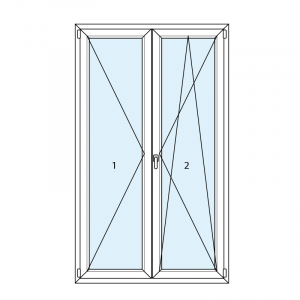 disegno swing french windows in PVC