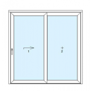 disegno lift and slide french windows in PVC