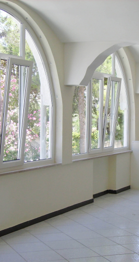arched and special shape windows  in pvc