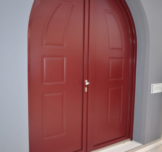 pvc solid doors with ashlar panel