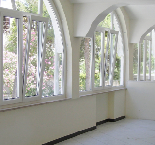 pvc windows with custom shape